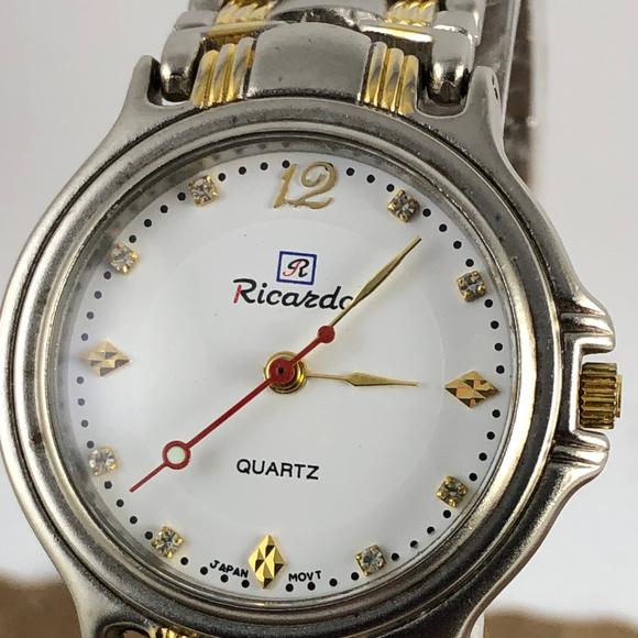 RICARDO Other - Vintage RICARDO Watch Nice 2 Tone Diamond Markers